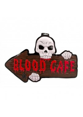 Blood Cafe deurbord