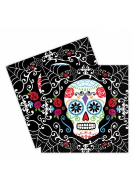 Servet Day of the Dead. 20 stuks servetten Los Muertos.